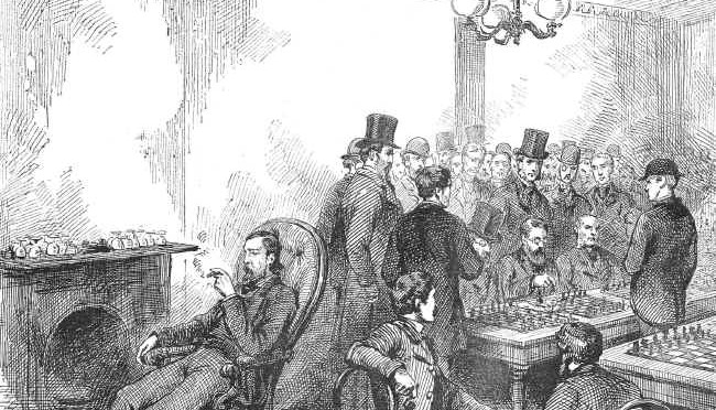 1876 Blackburne blindfolded